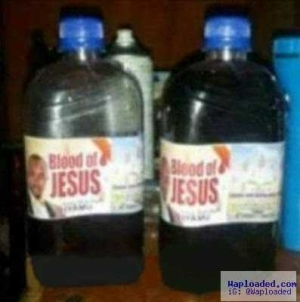 This Pastor is Selling Blood of Jesus in Plastic Cans (Photo)